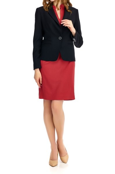 Business-dress-red-wool