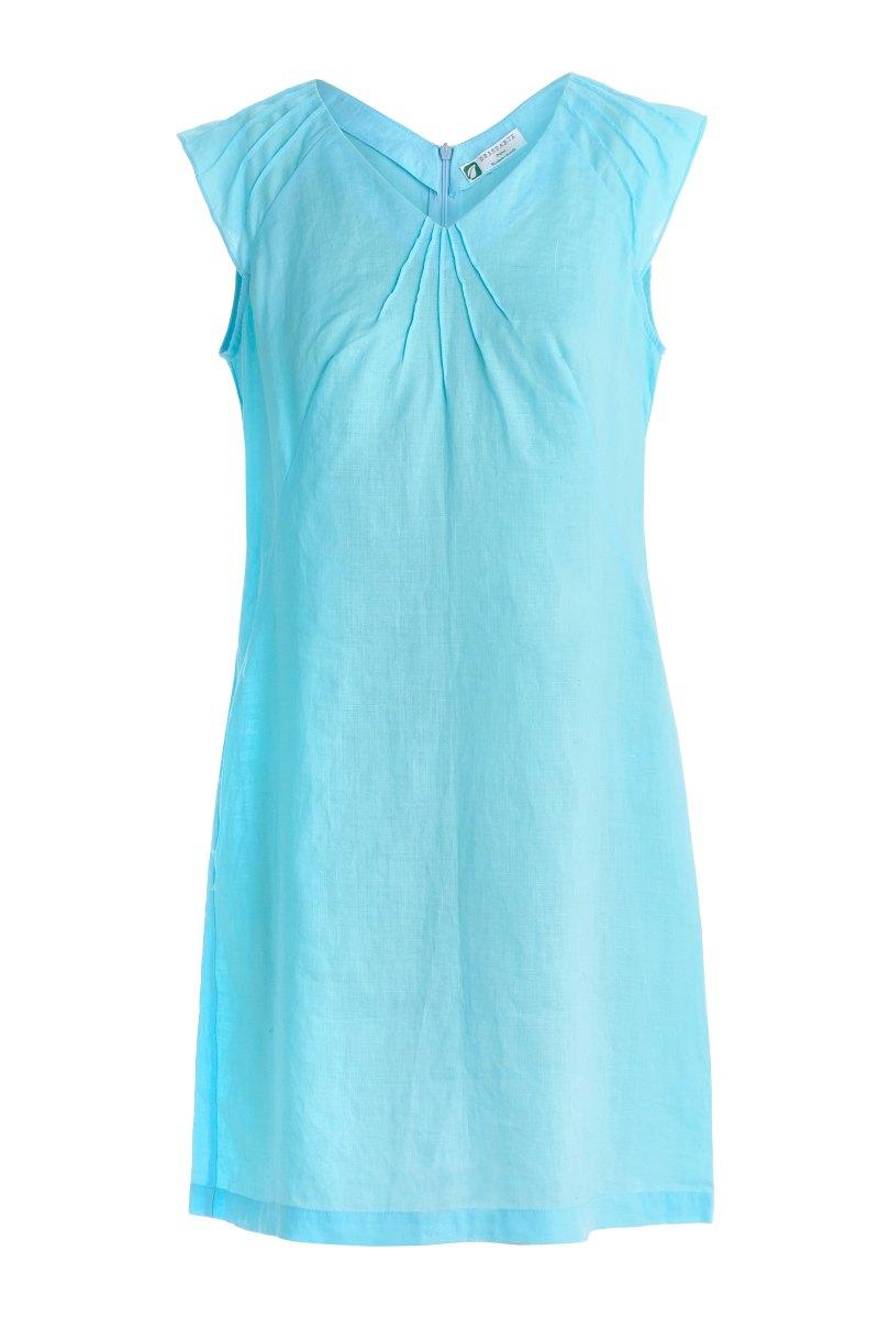 Dressarte-ramie-made-to-measure-dress-turquoise-1