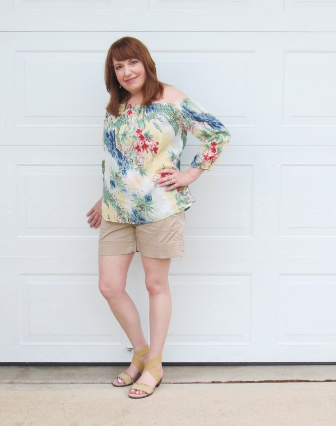 Tropical Top With Shorts
