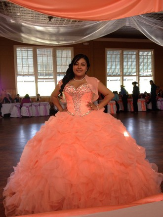 Coral Quinceanera Dresses Picture Collection Dressed Up Girl