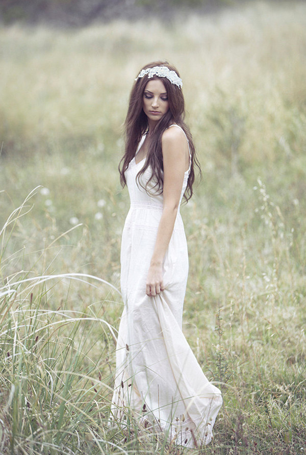 Bohemian Wedding Dress Dressed Up Girl