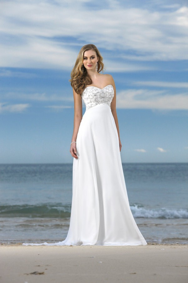 Beach Bridal Gowns Dressed Up Girl