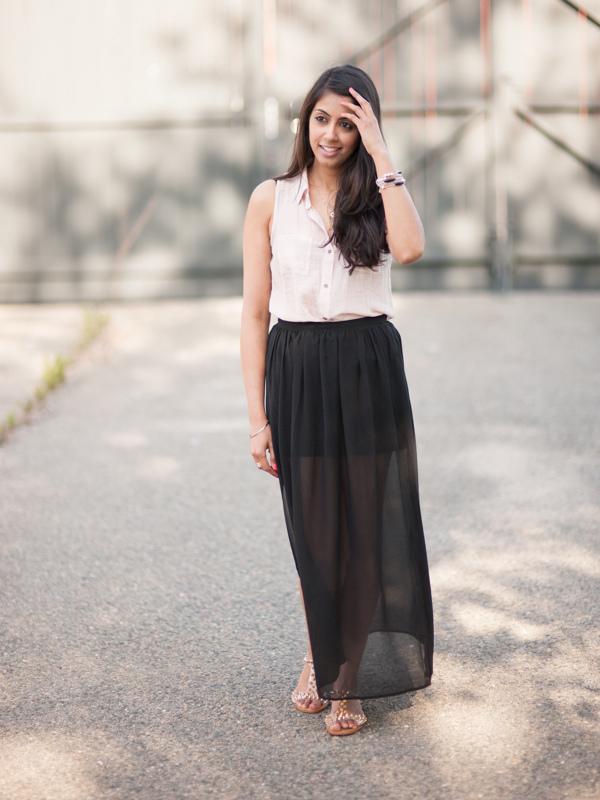 Sheer Maxi Skirt - Skirts