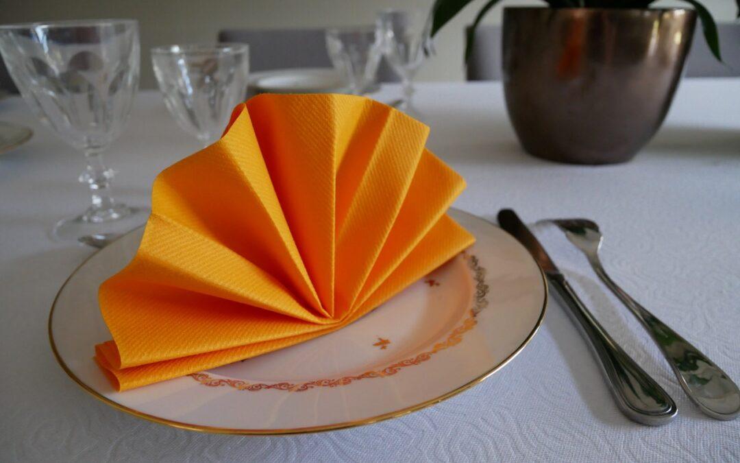 Pliage De Serviette En Forme D Eventail Dresser La Table Diy