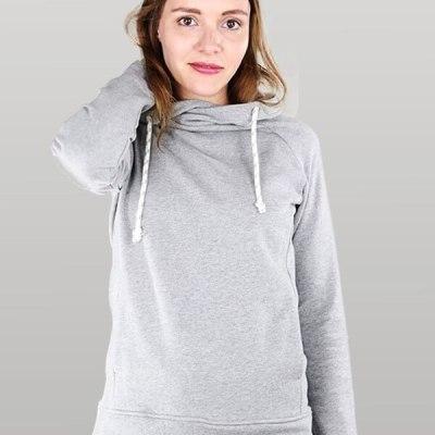 Mikina s kapucí MELAWEAR šedá