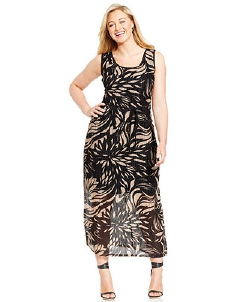 Plus size bold dress