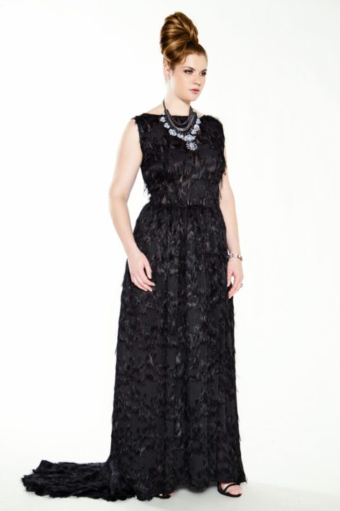 JIBRI Black Whispy Bridal Gown