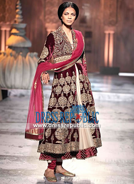 Indian Velvet Anarkali Dress