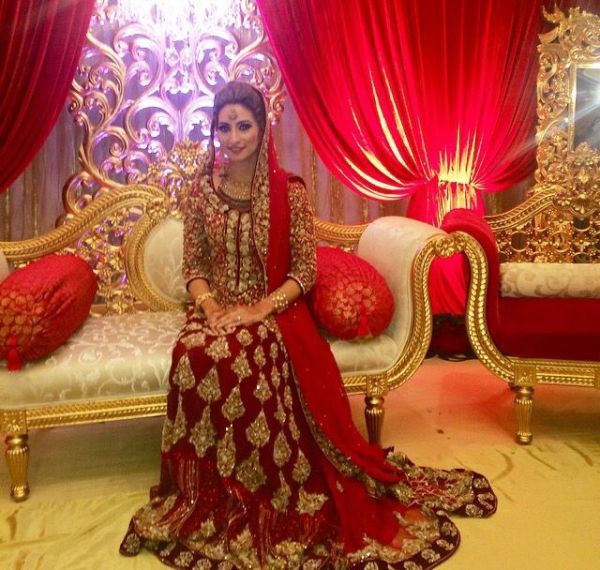 Deep Red Bridal Anarkali Gown