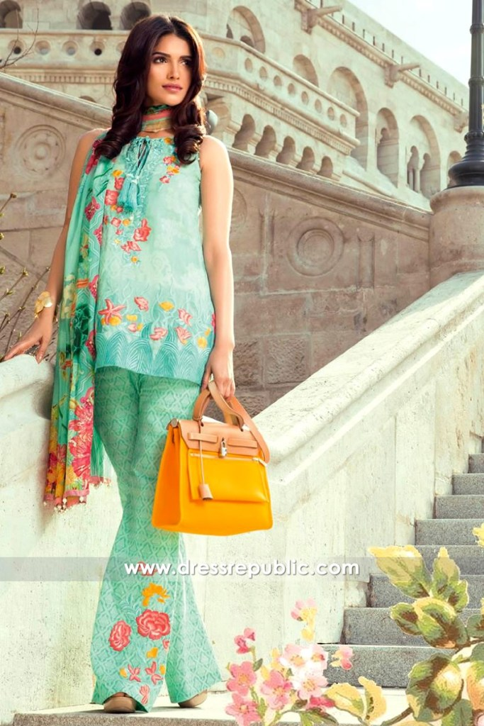 DRP6543 - Mina Hasan Embroidered Lawn 2017