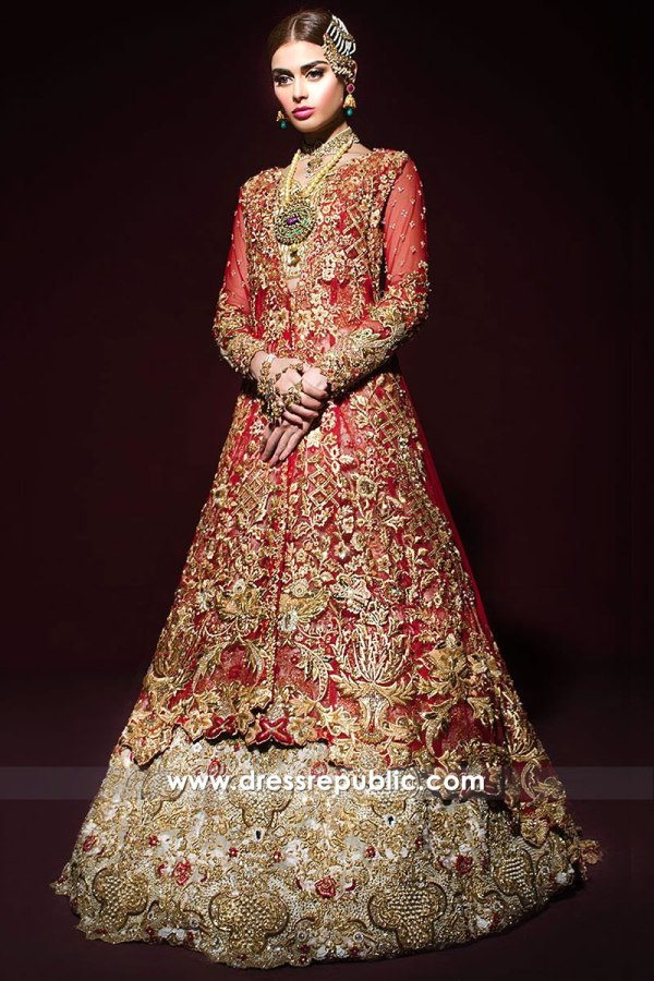 DR14271 - Tena Durrani Red Bridal Dress 2017