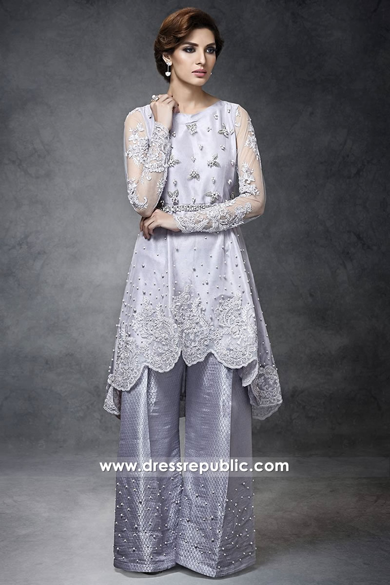 DR14278 - Pakistani Designer Dress in Lilac Buy Online in New York, New Jersey, USA