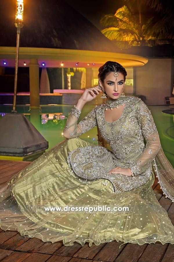 DR14284 - Formal Lehenga for Mehndi, Henna Night Weddng Guest Dress