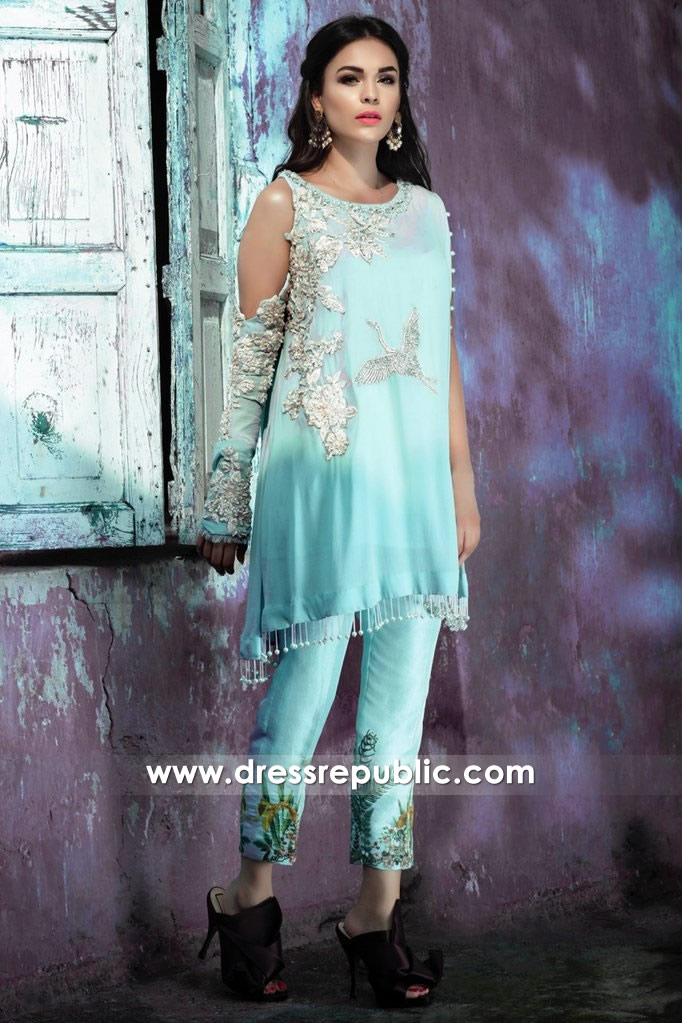 DR14369 - Saira Shakira Pakistani Designer Pret Collection 2017 Online USA
