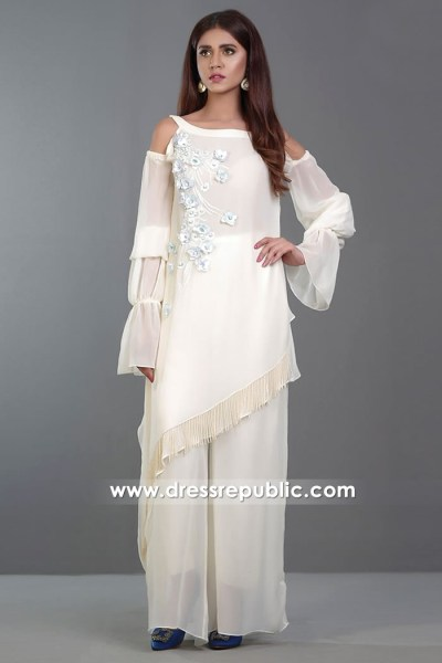 DR14375 - Off White Indian Casual Day Wear Trousers Suits USA