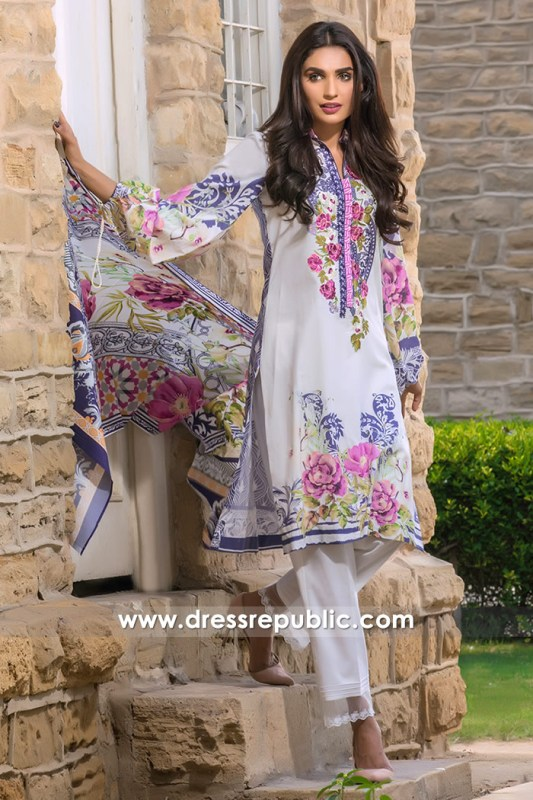 DRP6786 - Firdous Embroidered & Printed Cambric Cotton