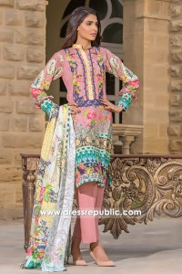 DRP6788 - Pakistani Cambric Cotton Lawn Designs 2017 By Firdous Cloth