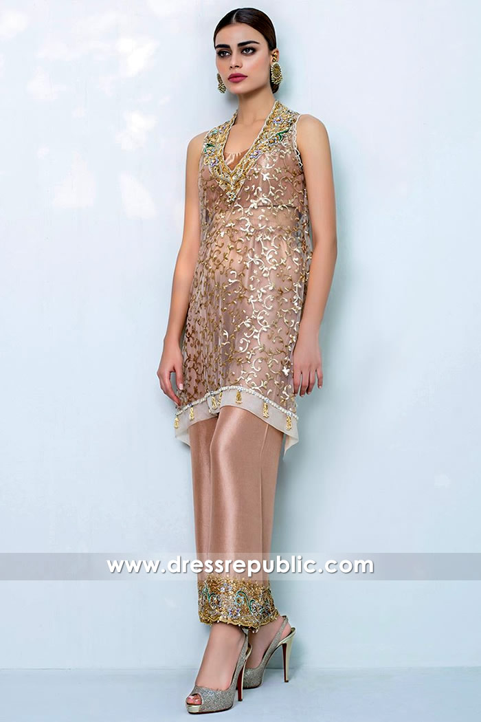 DR14413 - Hand Worked Christmas New Year Party Dress USA