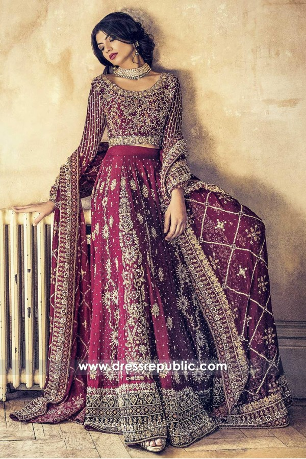 DR14462 - Latest Bridal Lehenga Choli 2018