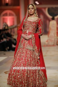 DR14470 - Sania Maskatiya Traditional Red Bridal Lehenga