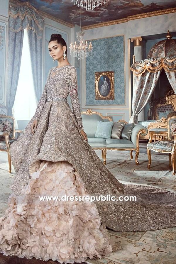 DR14534 DR14534b Republic Wedding Dresses 2018 in Tea Pink With Petal Skirt