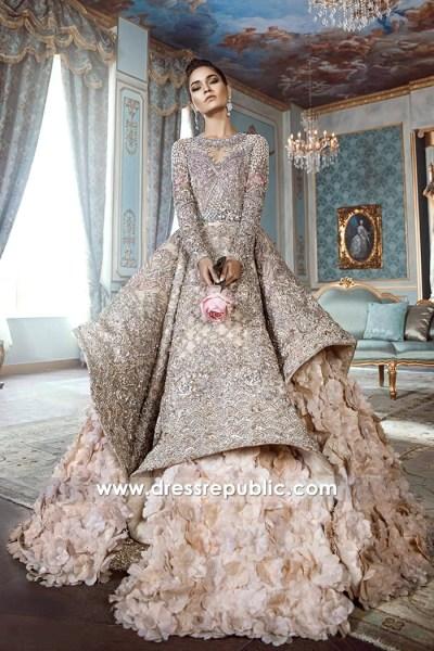 DR14534b Republic Wedding Dresses 2018 in Tea Pink With Petal Skirt