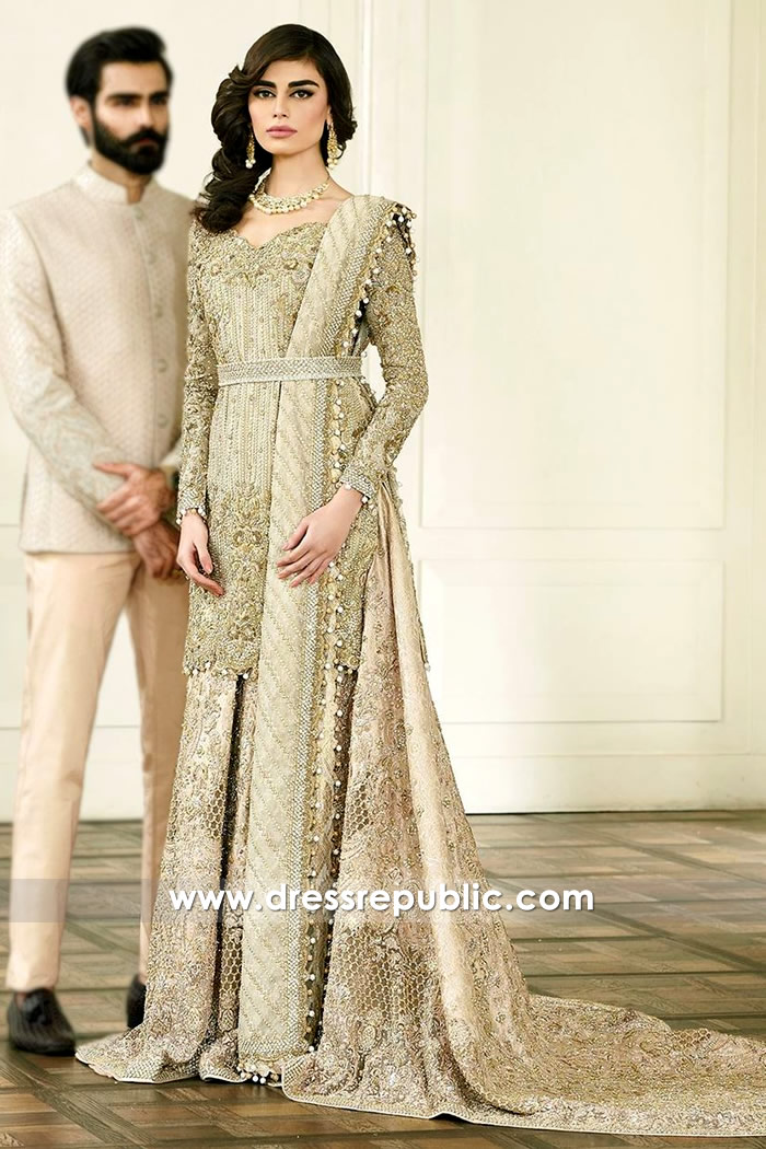 DR14574 Faraz Manan Haute Couture Bridal Lehenga 2018 Collection Online