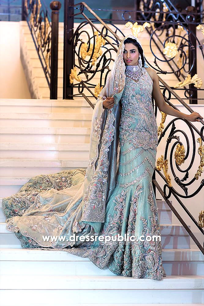 DR14587 Pakistani Boutique in Los Angeles Walima Reception Bridal Dresses