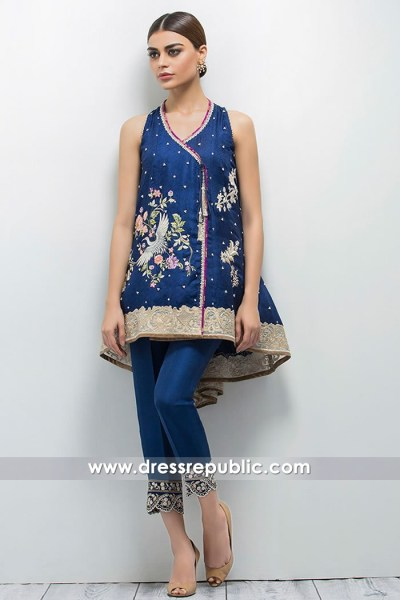 DR14635 Pakistani Designer Peplum Dress London, Manchester, Birmingham, UK