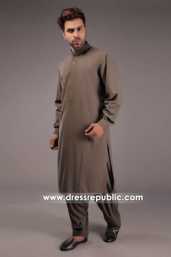 DRM5152 Men's Embroidered Kurta Shalwar Houston, Dallas, San Antonio, TX