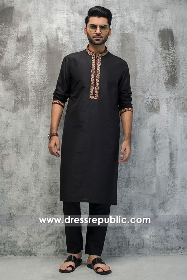DRM5189 Formal Kurta Shalwar for Men for Nikkah Function, Mehndi Function