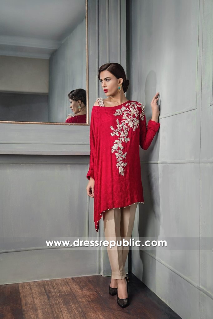 DR14668 Indian Party Wears, Pakistani Party Dresses in Red Colour Shop Online