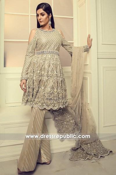 DR14855 Maria B Engagement Dress 2018 Formal Dress for Engagement Bride