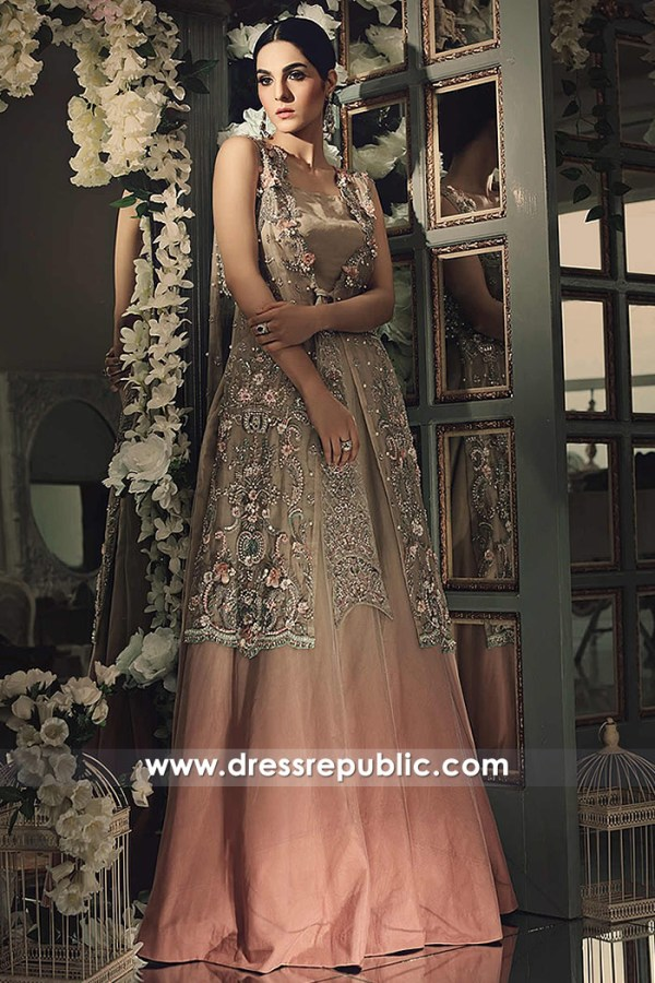DR14860b Maria B Wedding Party Dresses 2018 Wedding Guest Dresses Online