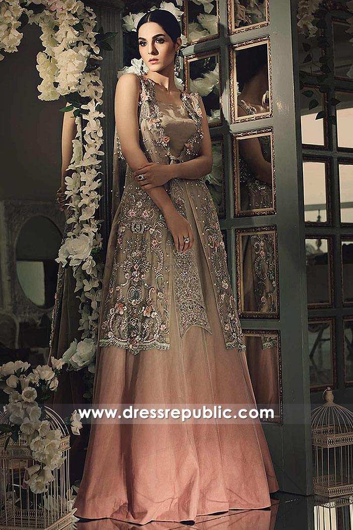 DR14860b Maria B Wedding Party Dresses 2018 Wedding Guest Dresses Online
