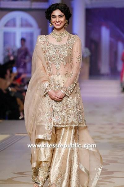 DR14867 Champagne Engagement Bride Nikkah Bride Bridal Dress 2018 Online