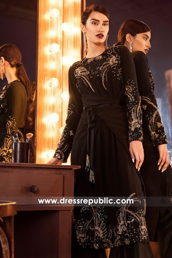 DR14878 Dark Chocolate Shalwar Kameez Trousers Suit For Birthday Party