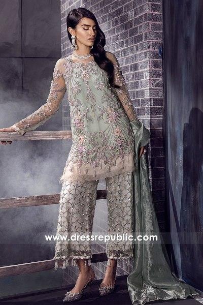 DR14884 Pakistani Designer Dress with Embellished Pants Buy Online