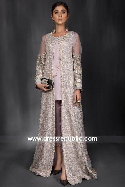 DR14962 Asian Wedding Guest Dresses 2018 Champagne Long Jacket Shop Online
