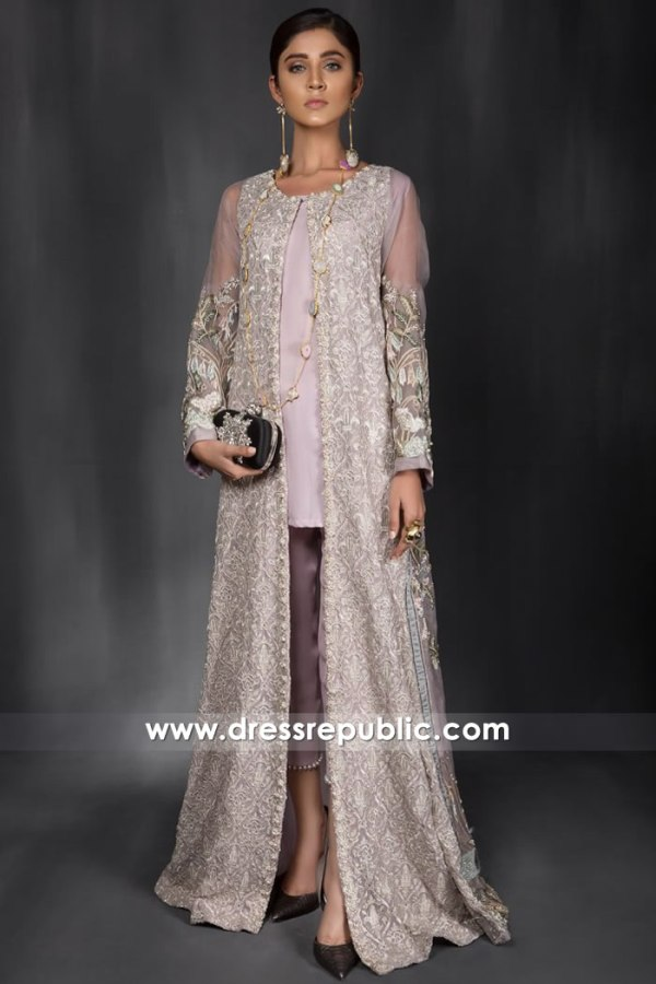 DR14962 Asian Wedding Guest Dresses 2018 Champagne Long Jacket Shop Online