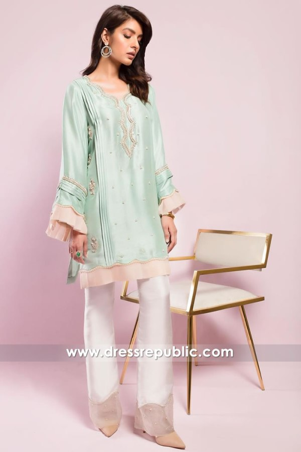 DR15018 Party Wear Pakistani Designer Kurti Winter 2018 Shop Online