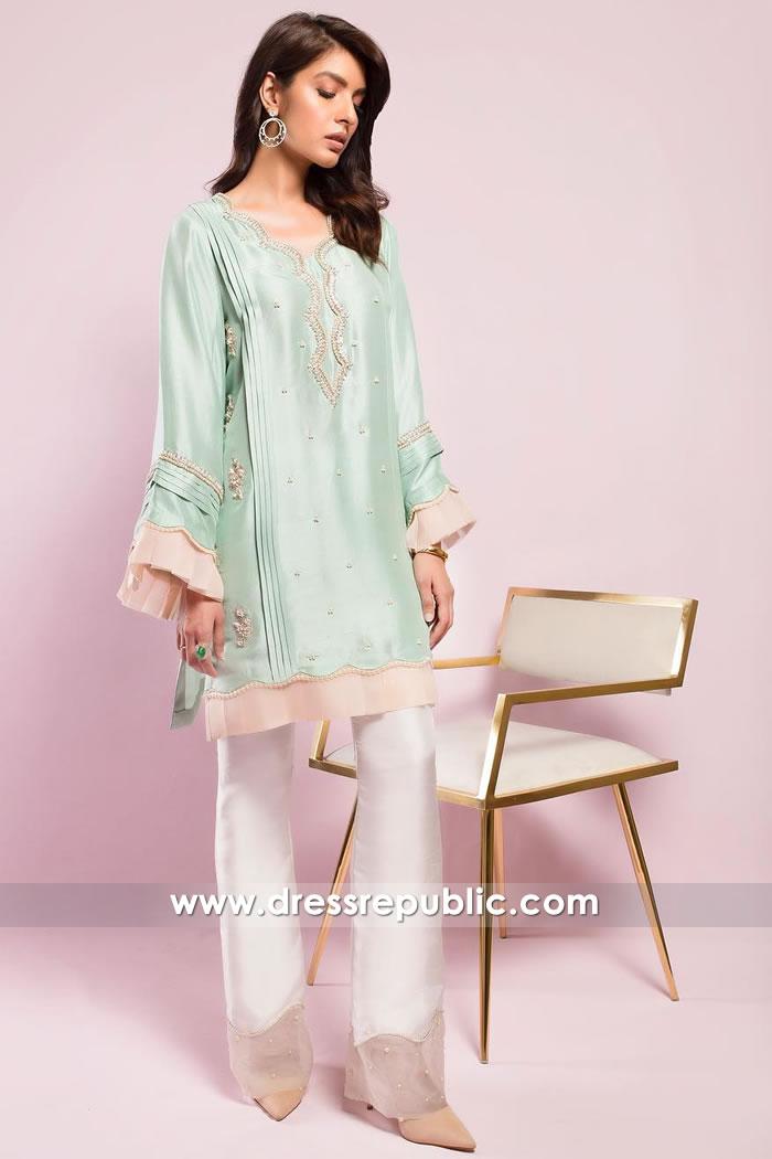 DR15018 Party Wear Pakistani Designer Kurti Winter 2018 Shop Online