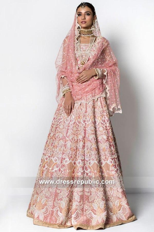 DR15091 Pakistani Designer Pink Bridal Dresses 2018 2019 Online Shopping