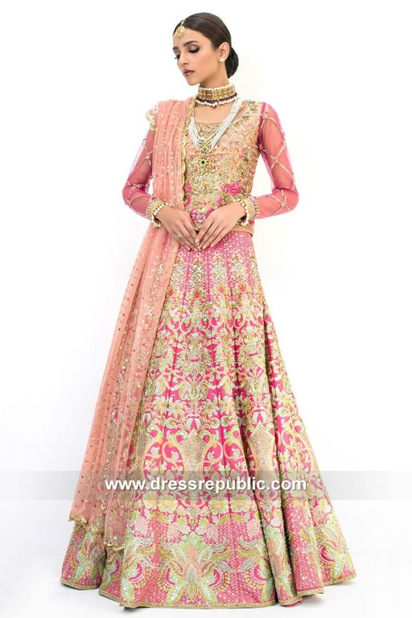 DR15094 Designer Pink Lehenga by Nomi Ansari in New York, New Jersey USA