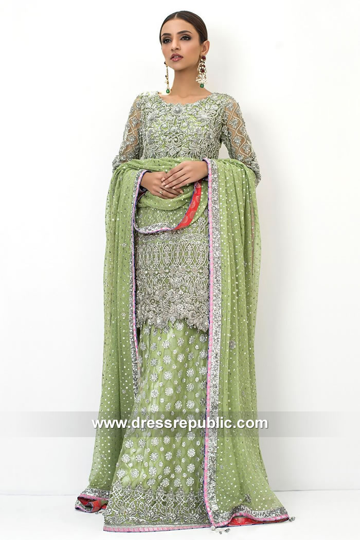 DR15095 Designer Bridal Sharara for Pakistani and Indian Bride in California