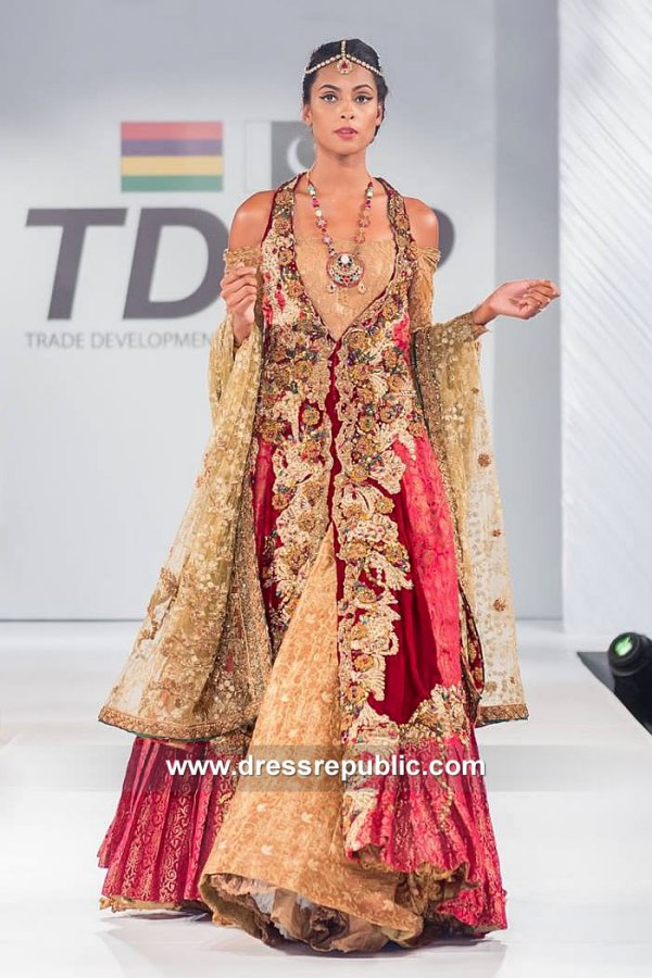 DR15126 Bengali Bridal Wear Lehenga in New York, California, Texas, Florida, USA