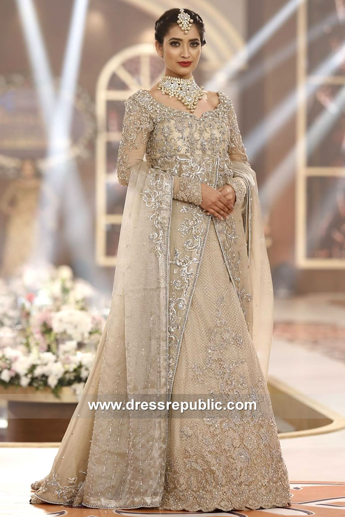 DR15133 Nilofer Shahid Valima Dresses 2018 Collection Shop Online in Pakistan