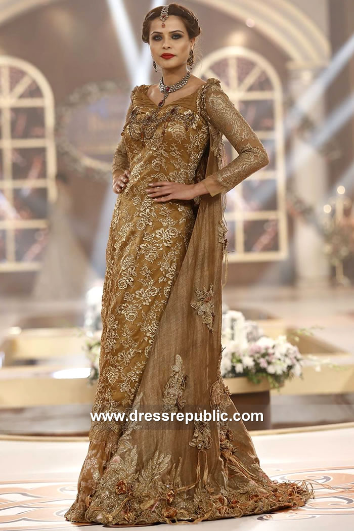 DR15134 Pakistani Designer Dresses Catwalk Fashion 2018 Collection Online Shop