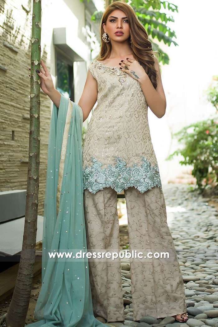 DR15167 Sharara Suit Pakistani Online UK Custom and Made-to-Measure Sizes