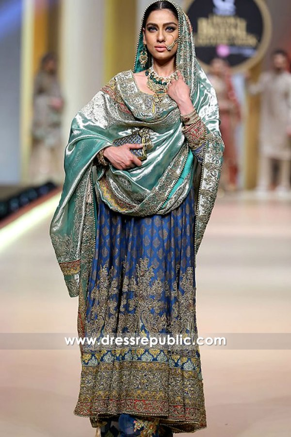 DR15191 Wedding Anarkali Dress for Bride Buy Pakistani Designer Dresses Online